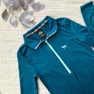 NWOT Victoria's secret teal half zip jacket E-002